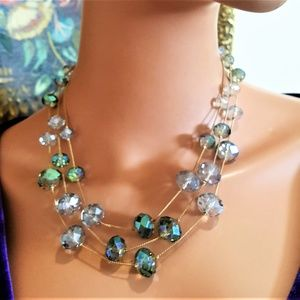 KENNETH COLE NECKLACE FACETED CRYSTAL